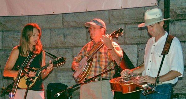 Lynn Wamp on Mandolin, Larry Lowe on the Clawhammer Banjo, & Lou Wamp on Dobro