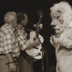 Ben & Jack jammin; with Sam the Lion (Barbara Haskew)
